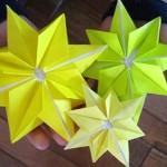 折り紙☆キラキラ星の折り方☆クリスマス 七夕のオーナメント飾りに