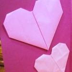折り紙 ハートの折り方 超簡単でかわいい!【動画付き】