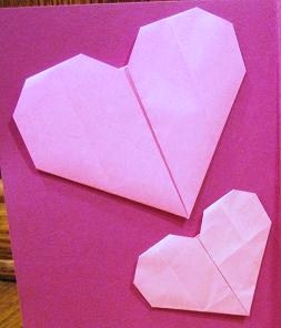 バレンタイン-バレンタインデー-クリスマス-クリスマス-ハート-折り方-手作り-カード-折り紙-簡単-工作-子供-保育園-幼稚園-作り方-幼児-2歳-3歳