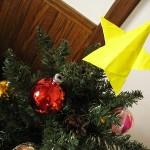 折り紙☆星の折り方☆クリスマスツリーのトップや七夕のお飾りに!