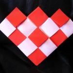 折り紙 チェック柄がかわいい チェッカーハートの折り方 【動画つき】
