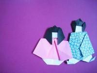 七夕飾り-折り紙で織姫と彦星の折り方
