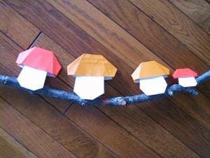 折り紙キノコの折り方動画