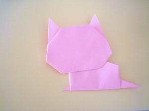 折り紙猫の折り方