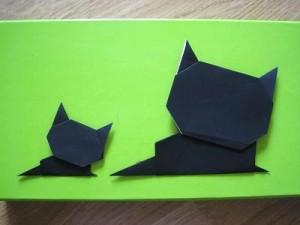 折り紙親子猫の折り方