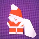 折り紙クリスマス!【サンタの折り方】動画で簡単|手作りオーナメント