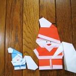 折り紙サンタクロースと小人の折り方