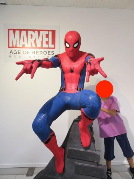 沖縄マーベル展のスパイダーマン