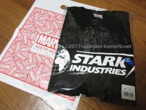 沖縄マーベル展のグッズStarkIndastryTシャツ